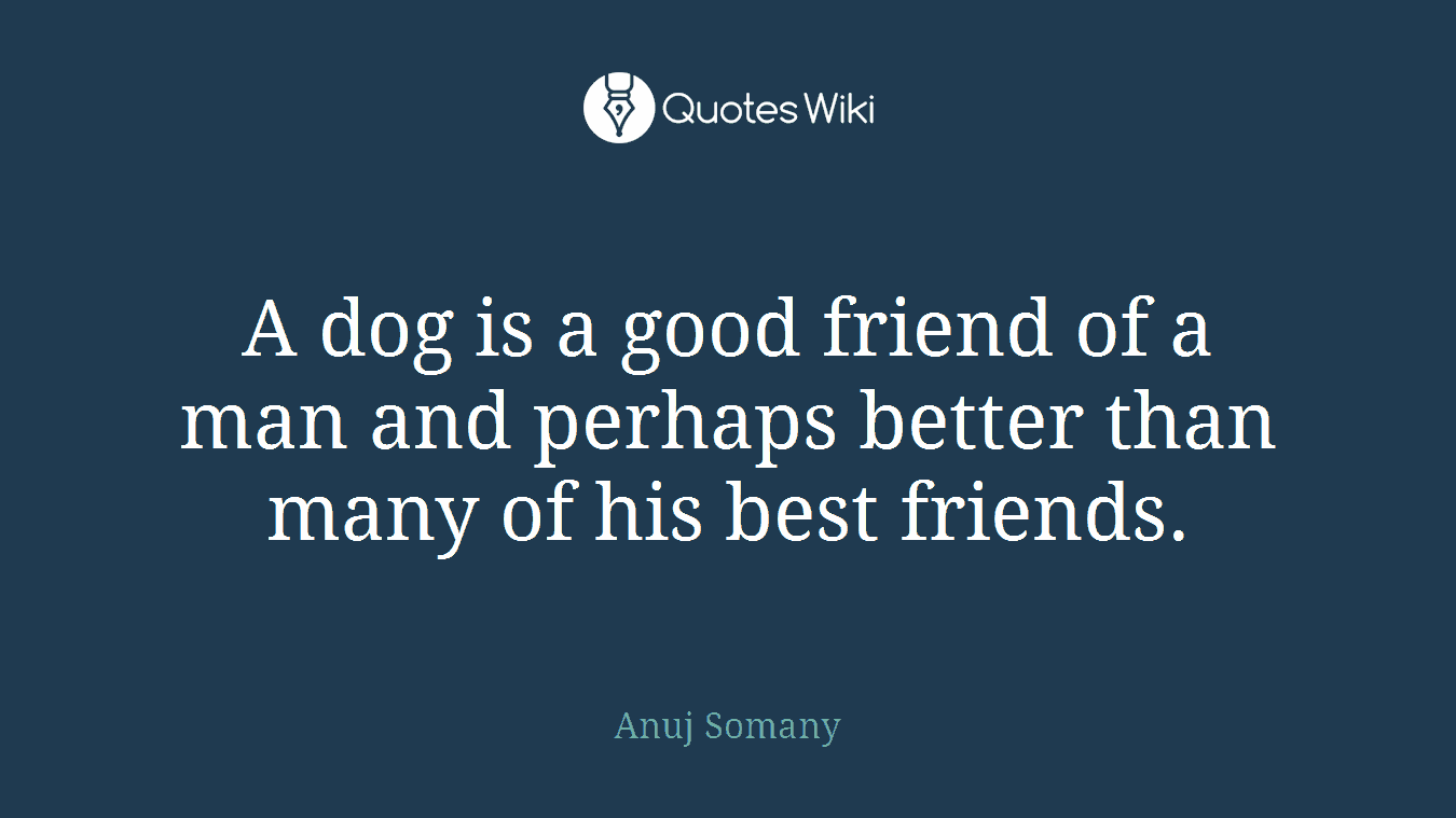 Quotes About Good Friendship A Dog Is A Good Friend Of A Man And Perhaps Bet.