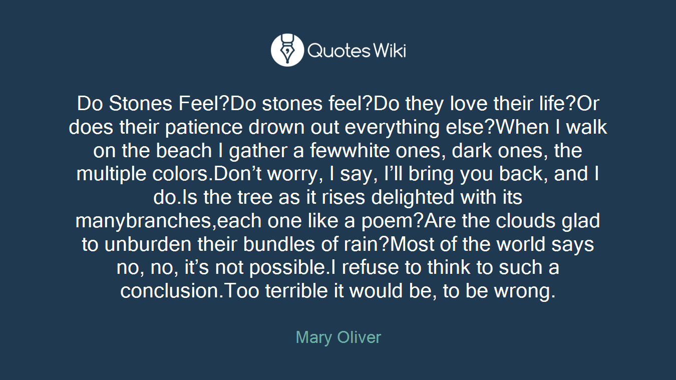 Mary Oliver Love Quotes Mary Oliver's Quotes At Quotes Wiki
